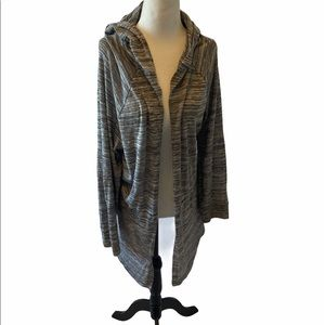 LOVe & LEGEND Grey Loose Fit Open Light Cardi 1X
